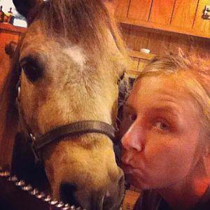 Me & Bucky-son kisses