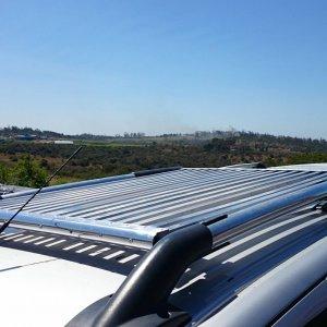 Homemade aluminium roof rack