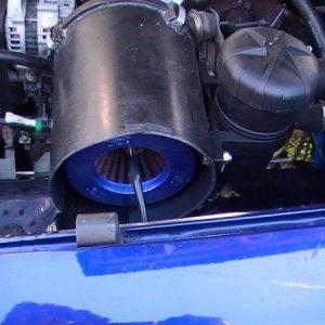 pod filter n modified air box ;)