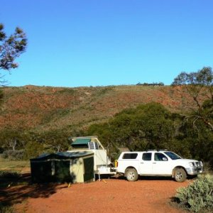 Gawler Ranges SA 2010. Camping in our Jurgens Oryx offroad camper.