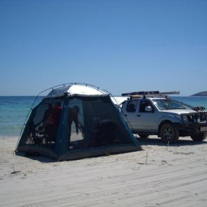 family day at Emu beach on Kangaroo Island,