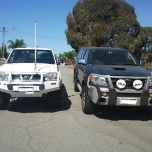 next to the brothers lux (hes got 2inch lift and 32 bfg muddies