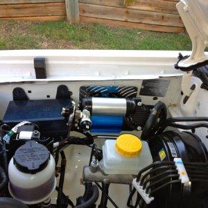 Compressor mounted