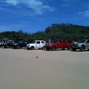 The gang we took up to Fraser Island
