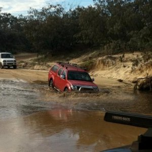 Dip time, the water came over my bonnet ..... oh no where is my snorkel ??