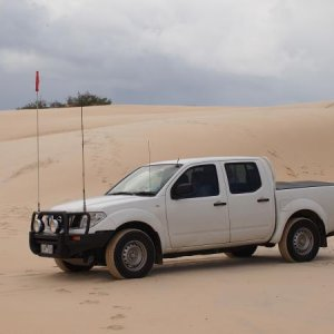 On the sand Fraser Island