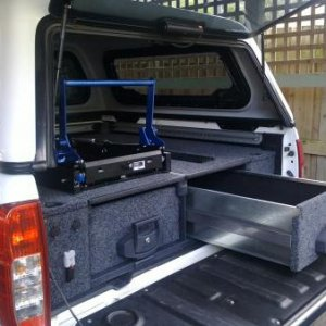 Outback sloution rear drawers & MSA drop fridge slide.