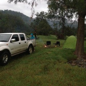 First campsite with the new nav