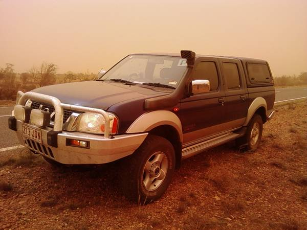 My D22 in a dust storm