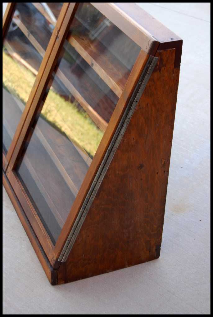 Vintage Hand Built Wooden Display Case Oklahoma Shooters