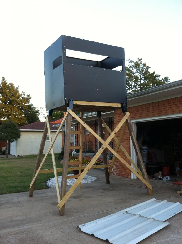 Built a tower blind with elevators | Oklahoma Shooters