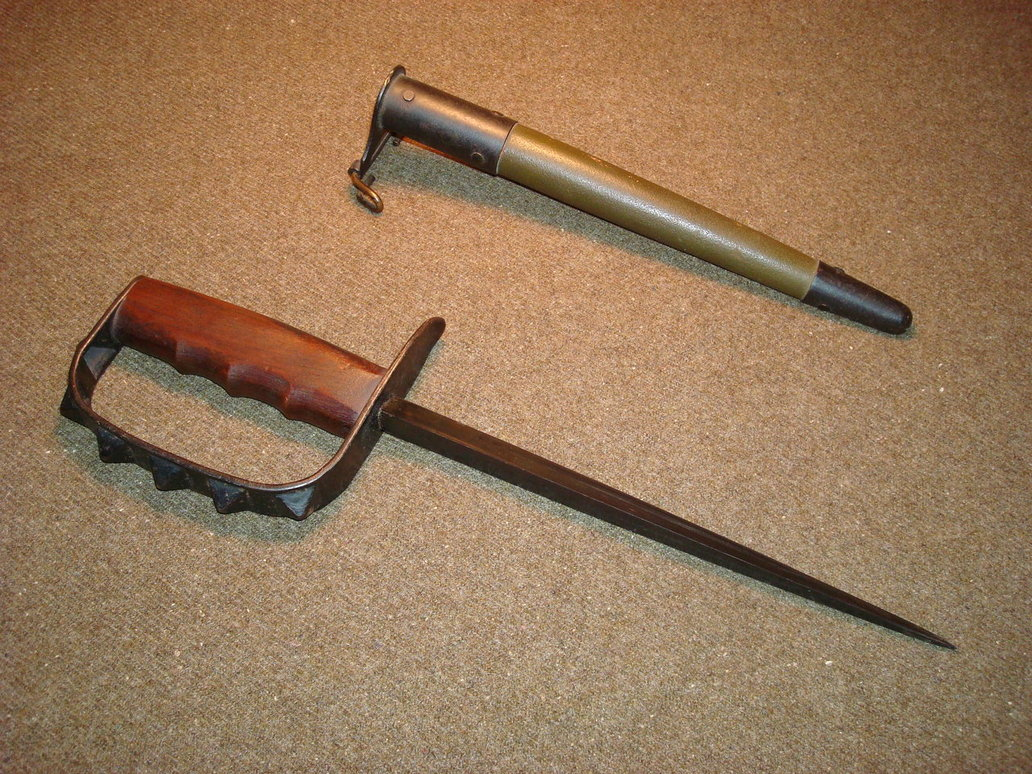 Stocking Stuffer Idea! 1911 or PPK rubber band guns. Semi ... Spiked Trench Knife
