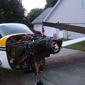 Bird Strike Engine hooked up to winch