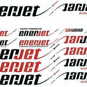 Enerjet Reprint Decals
