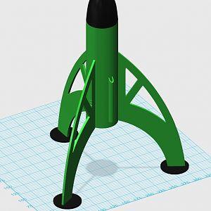 Estes Luna Bug Rocket 3D Model Pic