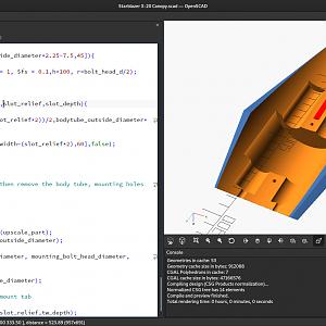 Screenshot of OpenSCAD for Starblazer X-20 4x Upscale Kit #2