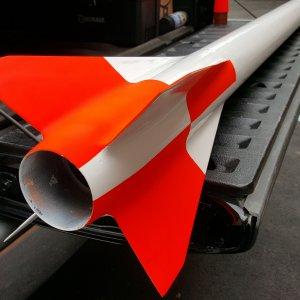 White base is 2-part epoxy paint, top coat orange/black is rattle can