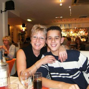My mum and youngest son