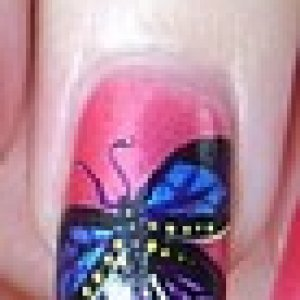 Handpainted Butterfly
