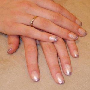 Bio Pink Silk with Nailgrafx Lilac Attack
