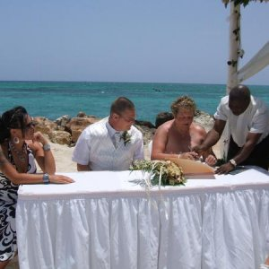 my mum dad after 25 years, getting married in jamaica