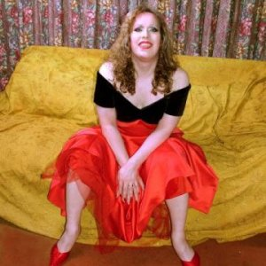 From a photo shoot that photographer and make-up artist Vanessa Wayne did at our house a couple of months before Sonia and I got married; this was the same dress I later wore at our