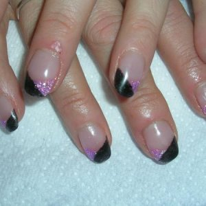 Black and Pink Glitters