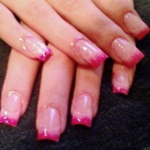 pink blended tips