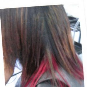 colour underneath section then blown straight