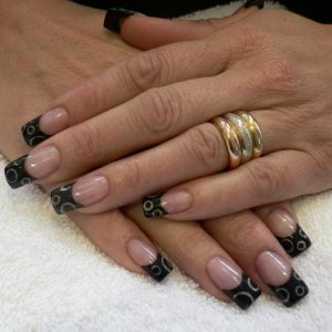 Black French with Gold Detail