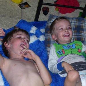 My boys giggling
