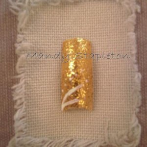 Gold glitter with flicks
