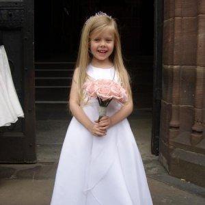 Abbie as a bridesmaid