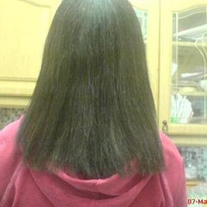 after  colour, cutting and straightening