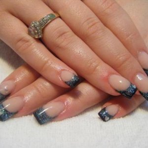 onyx and silver glitter/after