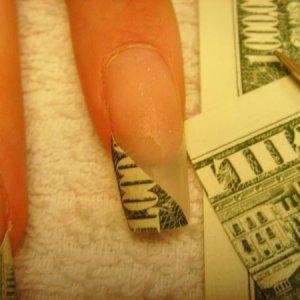 cut and stick dollar billsto free edge
