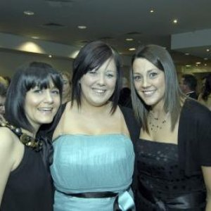 at beauty awards with girls from gratons