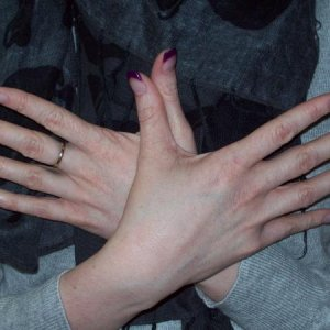 Lori's nails purple L&P