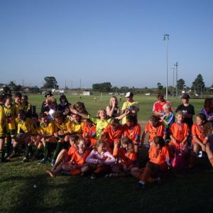 Tiana's team last season & a boys team they played at a gala day.