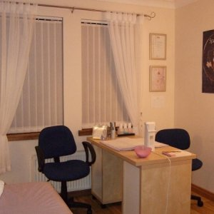 My New Little Beauty Room - Home Salon  Another photo of my nail desk.