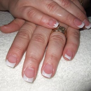 L&P French Tip  Sisters Nails I did tonight using the well-less french tips.