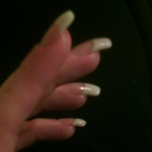 Backfilled sculpted Nails on me  Having difficulty getting apex correct.. always seem too flat or too fat!!