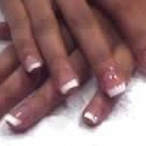 Full set of Pink and White Acrylic Nails  Full set of pink and white acrylic nails