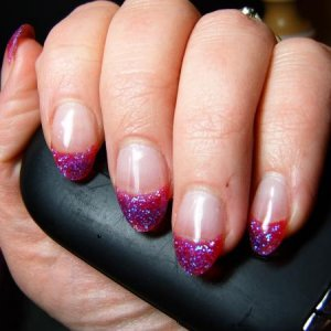 Cotton Candy Glitter from Young Nails