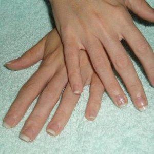 Natural nails with french polish