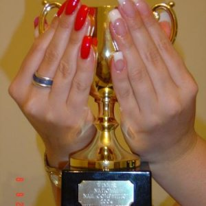 My winning Nails ! National Nail Comp Excel 2004
