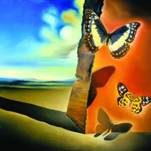 salvador dali Landscape With Butterflies jpg