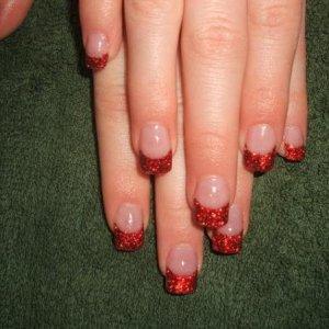 ruby slippers glitter nails