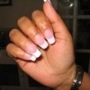 wt tips  pink powder white tips