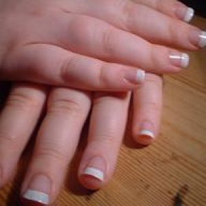 french  an example of my french manicure, on my own natural nails x x